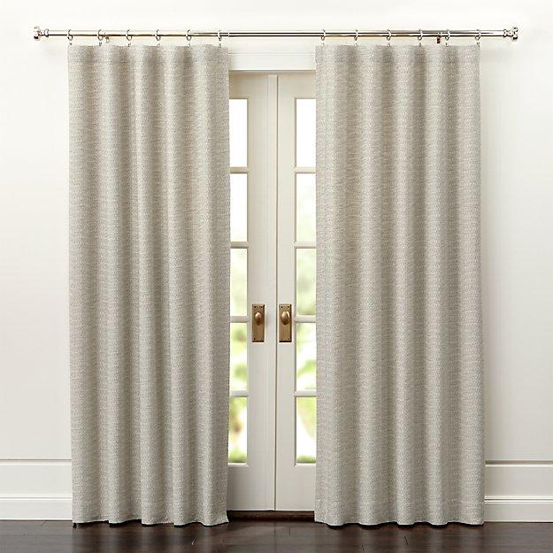 desmond silvercream curtain panels crate and barrel - Crate And Barrel Curtains