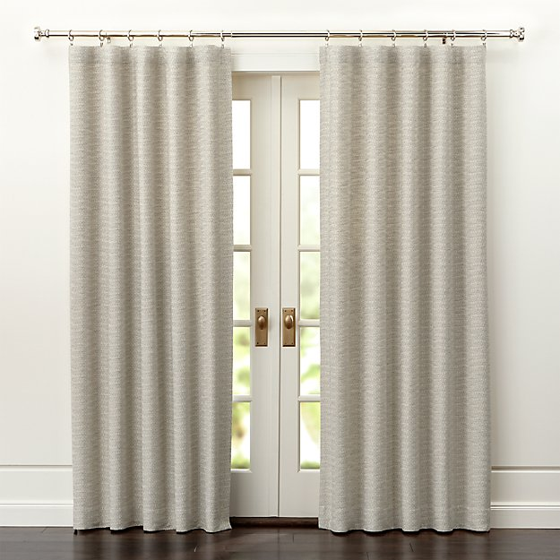 Desmond Silver/Cream Curtain Panels - Image 1 of 5