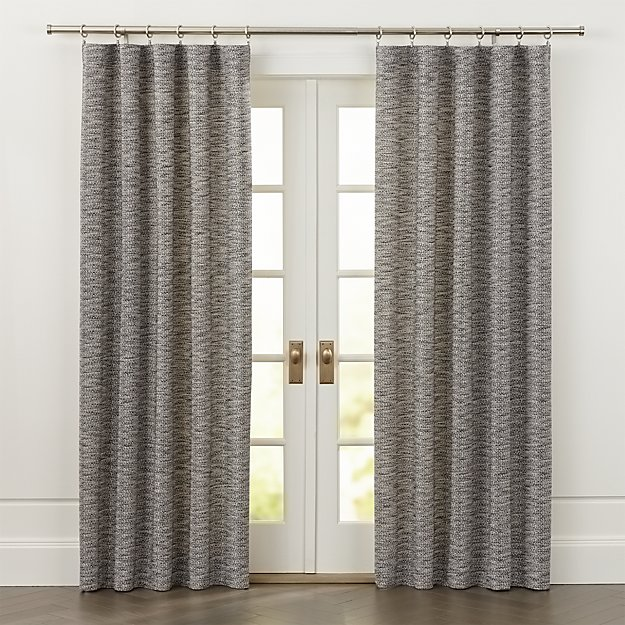 Desmond Dark Grey Cotton Curtains  Crate and Barrel