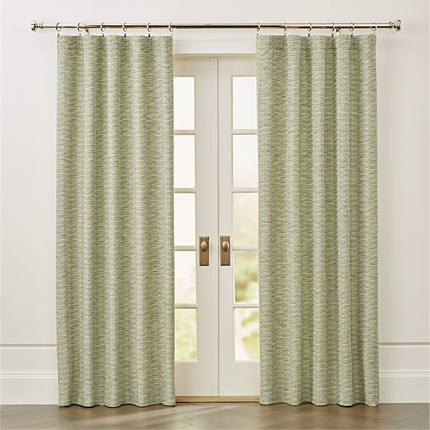 Desmond Green Cotton Curtain Panel - Image 1 of 7