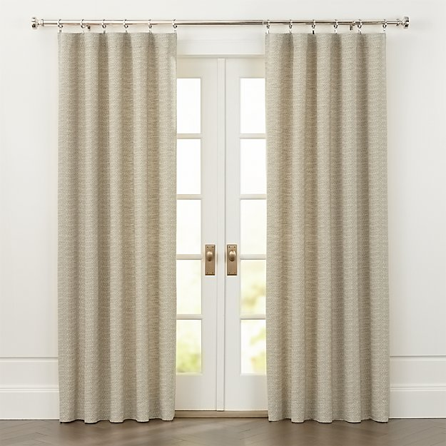Desmond Natural Cotton Curtains - Image 1 of 6