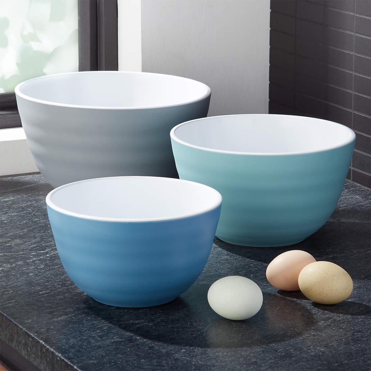 Destin Melamine Mixing Bowls Set Of 3