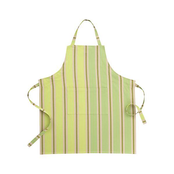 Devon Green Stripe Apron