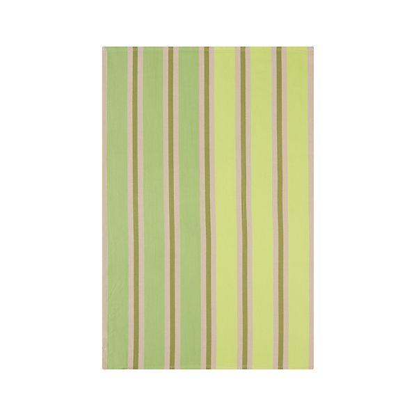 Devon Green Stripe Dishtowel