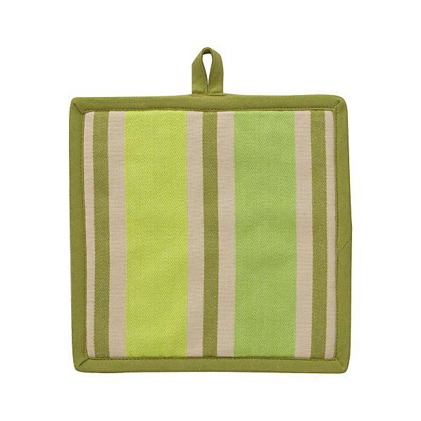 Devon Green Stripe Potholder