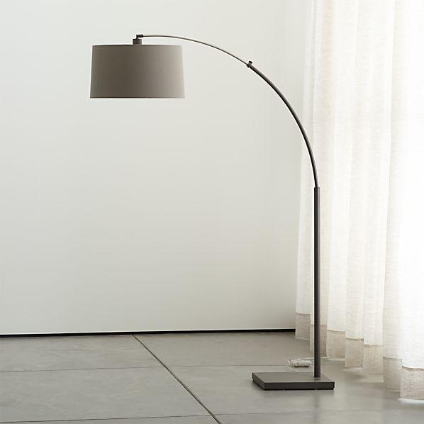 Dexter Arc Floor Lamp with Grey Shade