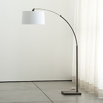 crate and barrel lighting fixtures. Dexter Arc Floor Lamp With White Shade Crate And Barrel Lighting Fixtures