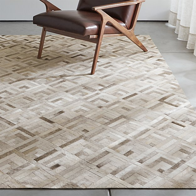 Dez Grey Cowhide Rug Crate And Barrel
