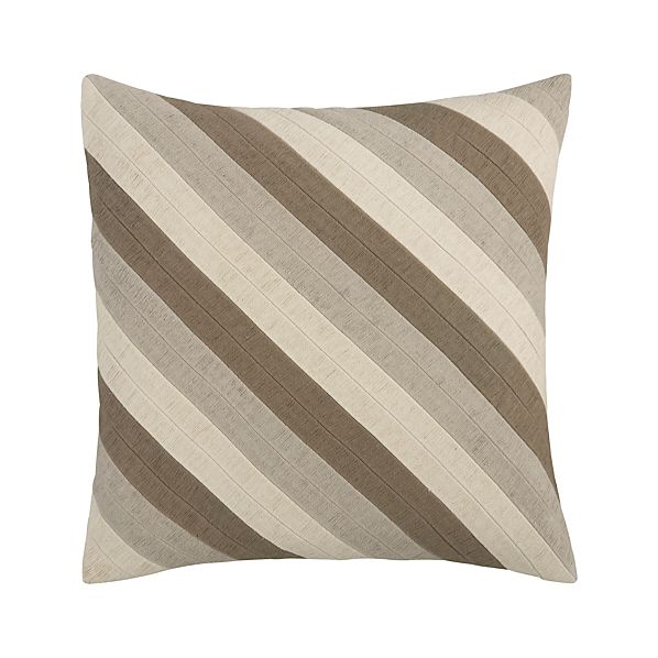 "Diagonal Neutral 20"" Pillow"