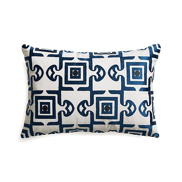 "Diamond Tile 18""x12"" Pillow with Feather-Down Insert"