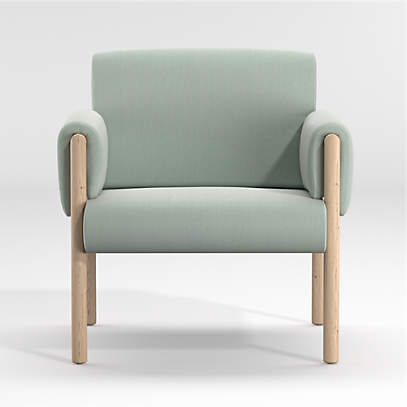 Diderot Wooden Upholstered Chair Crate And Barrel