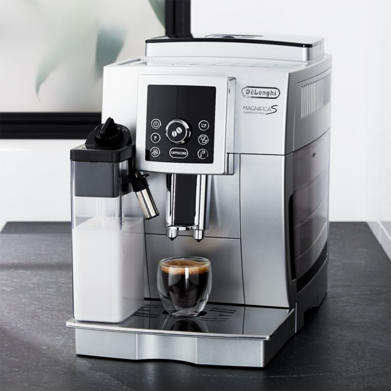 delonghi digital super automatic espresso machine with lattecrema system crate and barrel
