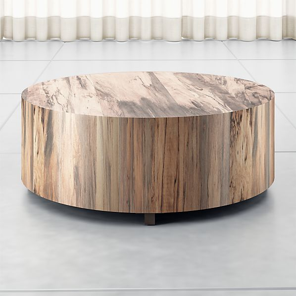 Pleasing Dillon Spalted Primavera Round Wood Coffee Table Gmtry Best Dining Table And Chair Ideas Images Gmtryco