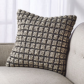 Dinard Black and White Pillow 18""