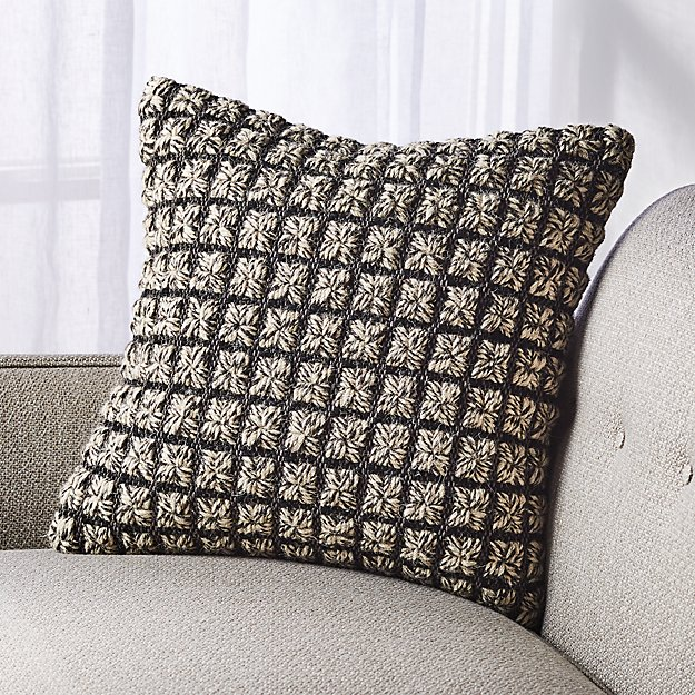 "Dinard Black and White Pillow 18"" - Image 1 of 11"