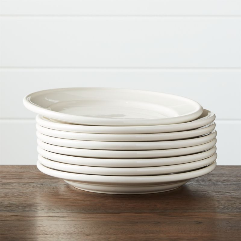 & Set of 8 Dinette Dinner Plates + Reviews | Crate and Barrel