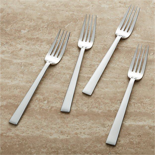 Set of 4 Dinner Forks - Image 1 of 5