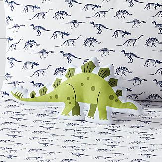 Green Dino Throw Pillow