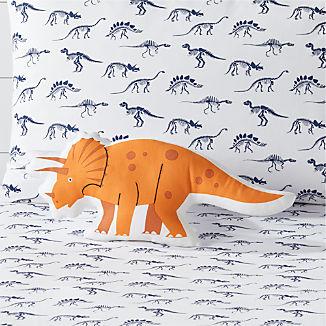 Orange Dino Throw Pillow