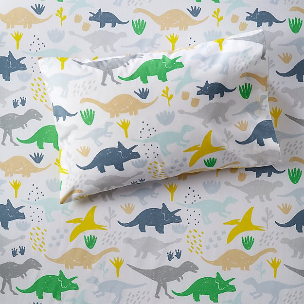 Organic Dinosaur Toddler Pillowcase Reviews Crate And