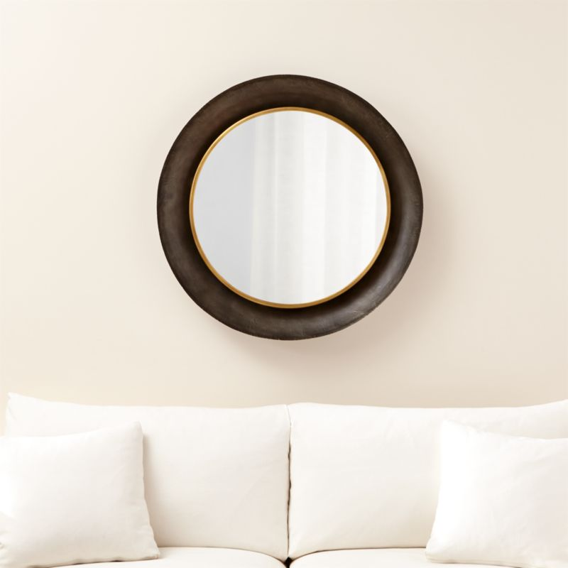 Dish round wall mirror reviews crate and barrel