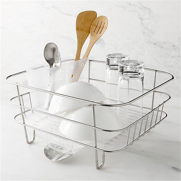 simplehuman Compact Dish Rack + Reviews | Crate and Barrel