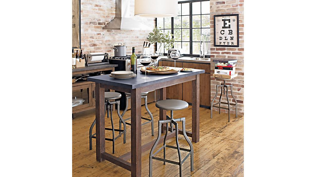 Turner Gunmetal Adjustable Backless Counter Stool