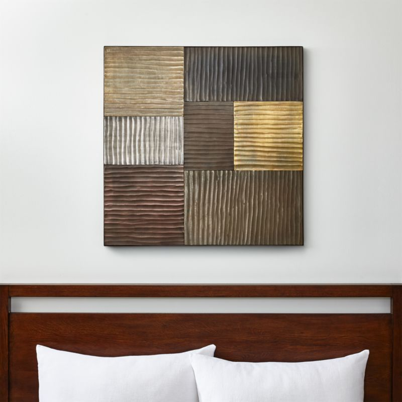 district metallic wall art reviews crate and barrel