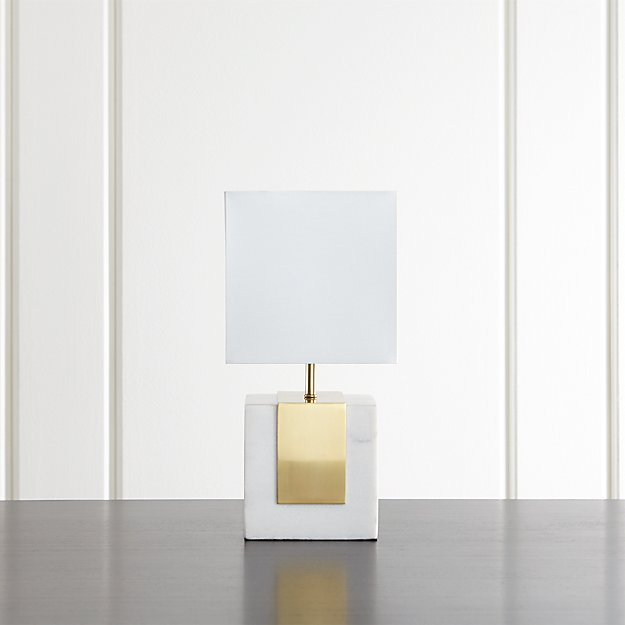 Crate and Barrel Exclusive. Division Marble Table Lamp - Division Marble Table Lamp Crate And Barrel