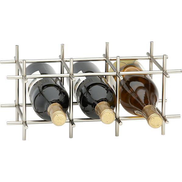 Division Nickel 6-Bottle Wine Rack