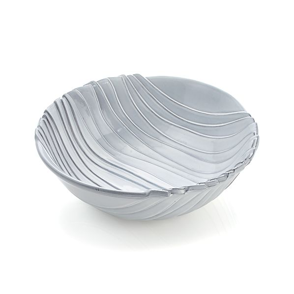 Divvy White Serving Bowl