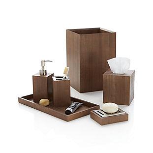sedona grey hamper in bath storage reviews crate and barrel. Black Bedroom Furniture Sets. Home Design Ideas