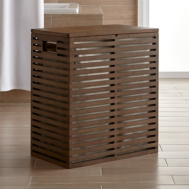 Dixon Bamboo Hamper with Liner - Image 1 of 6