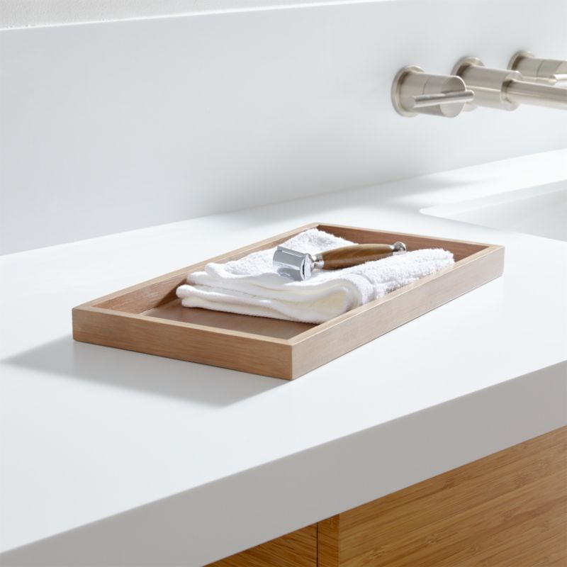 dixon bamboo vanity tray - Bathroom Accessories Vanity Tray