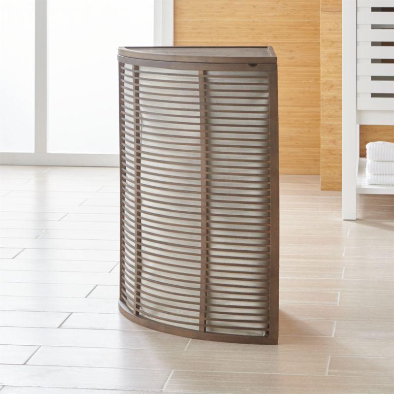 Dixon Corner Hamper With Liner Reviews Crate And Barrel
