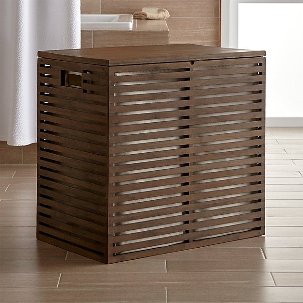 Dixon Large Bamboo Hamper with Liner - Image 1 of 6
