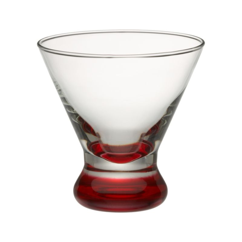 We've given our popular V-shaped glass a colorful makeover with a red foot.<br /><br /><NEWTAG/><ul><li>Hand washing recommended</li><li>Made in USA</li></ul>