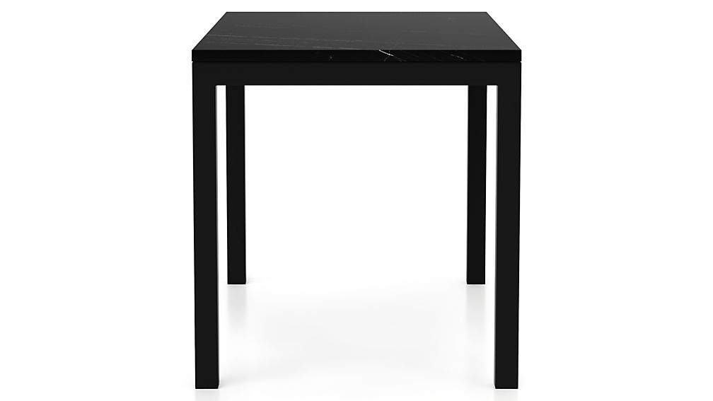 Parsons Black Marble Top/ Dark Steel Base 48x28 High Dining Table
