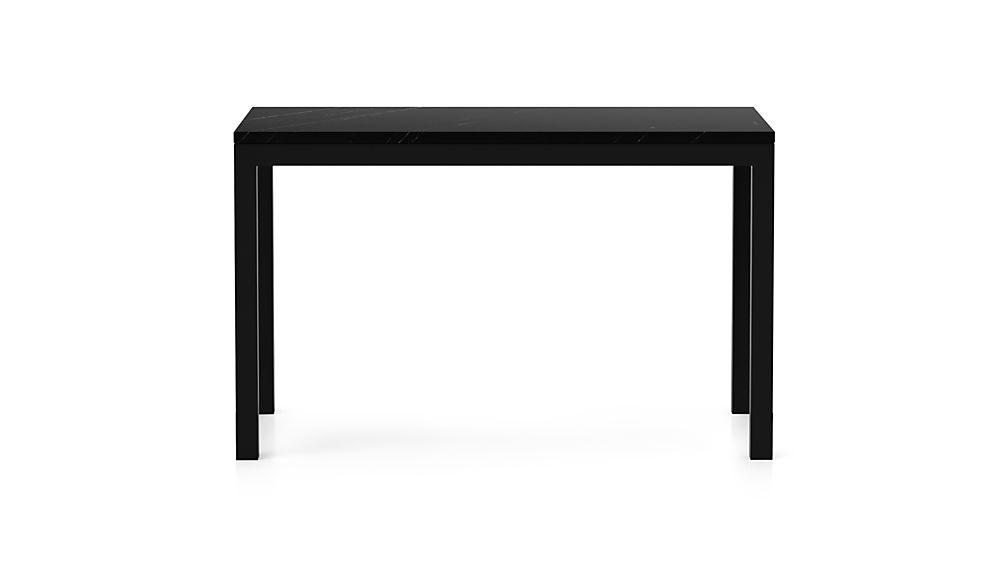 Parsons Black Marble Top/ Dark Steel Base 48x28 Dining Table
