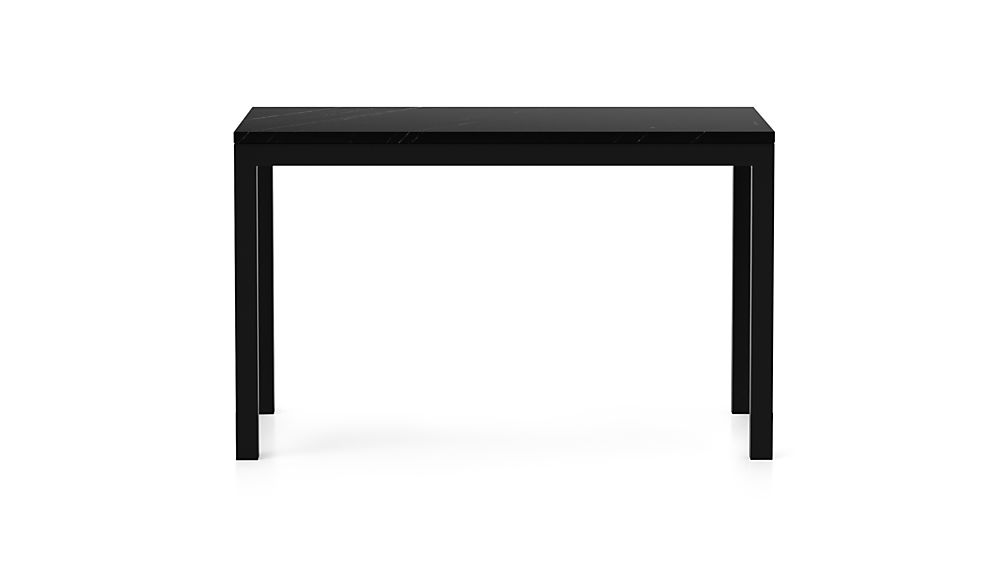 Parsons Black Marble Top/ Dark Steel Base 72x42 Dining Table