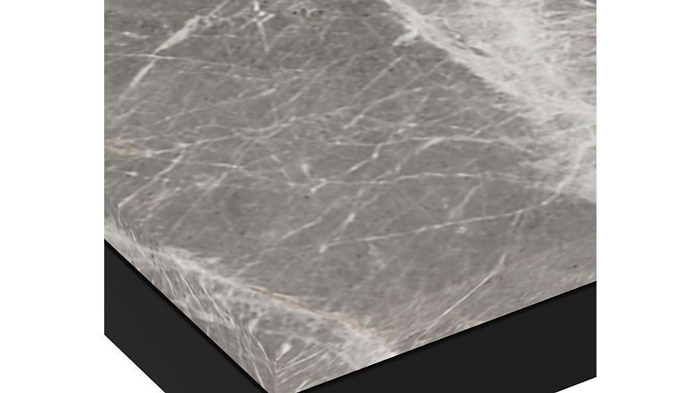 Parsons Grey Marble Top/ Dark Steel Base 72x42 Dining Table