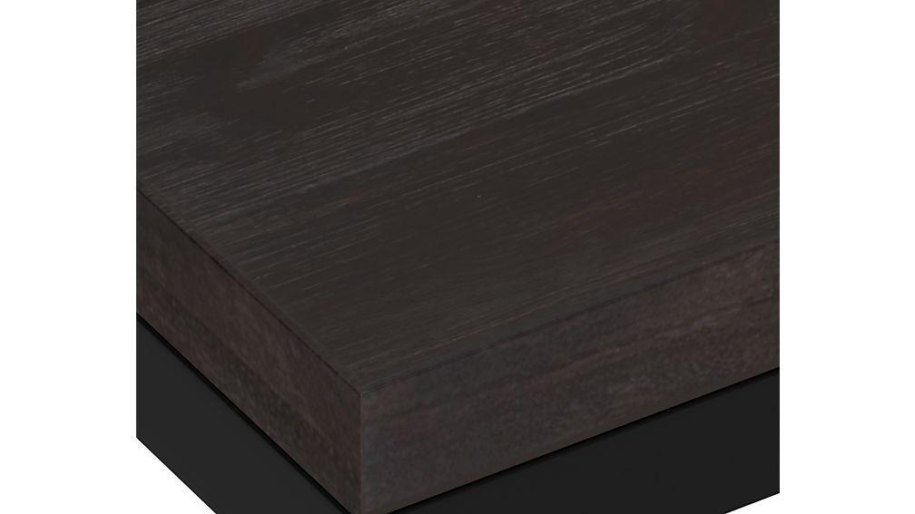 Parsons Pine Top/ Dark Steel Base 60x36 Dining Table