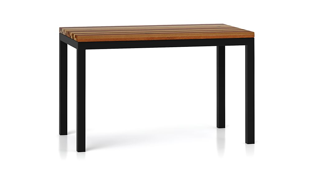 Good ... Parsons Reclaimed Wood Top/ Dark Steel Base 72x42 Dining Table ...