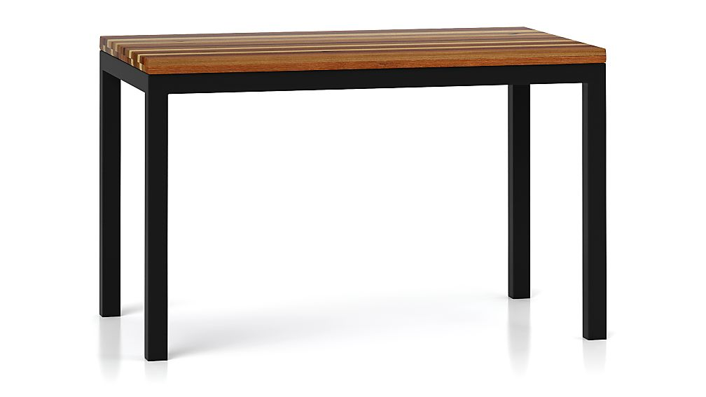 Parsons Reclaimed Wood Top/ Dark Steel Base 48x28 Dining Table