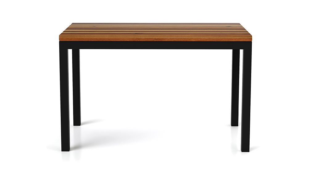 Parsons Reclaimed Wood Top/ Dark Steel Base 72x42 Dining Table