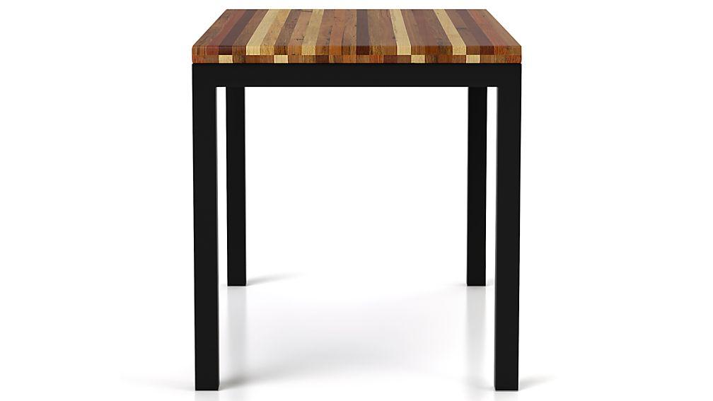 Parsons Reclaimed Wood Top/ Dark Steel Base 48x28 Dining Table