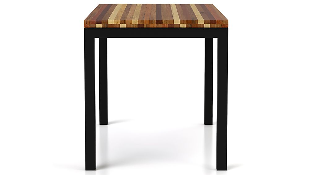Parsons Reclaimed Wood Top/ Dark Steel Base 60x36 Dining Table
