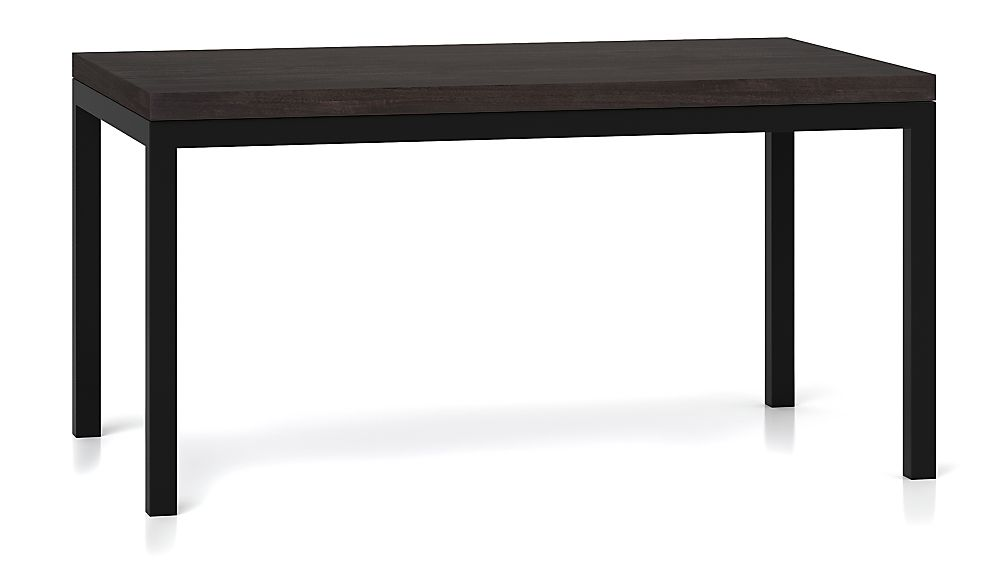 Parsons Pine Top/ Dark Steel Base 60x36 Dining Table