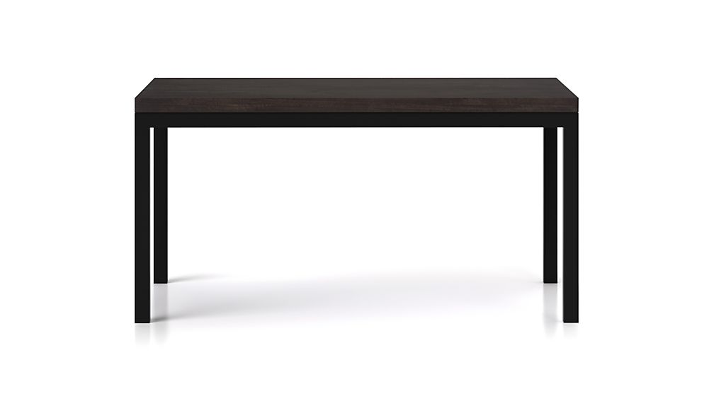 Parsons Pine Top/ Dark Steel Base 48x28 High Dining Table