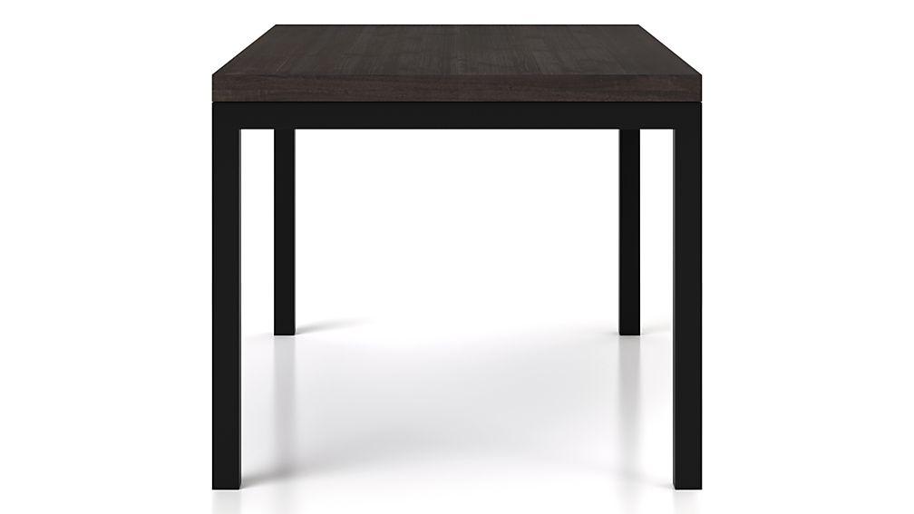 Parsons Pine Top/ Dark Steel Base 72x42 Dining Table